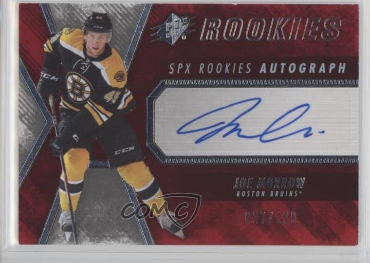 new product b4c73 0b628 Details about 2014-15 SPx/199 #132 Spectrum Red Rookie - Joe Morrow Boston  Bruins Auto RC Card