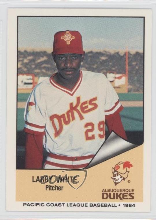 Details About 1984 Cramer Pacific Coast League 158 Larry White Albuquerque Dukes Rookie Card