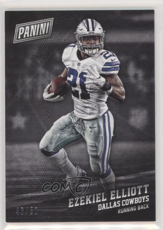 separation shoes 28253 09a6d Details about 2017 Panini Black Friday Thick Stock/50 #22 Ezekiel Elliott  Dallas Cowboys Card