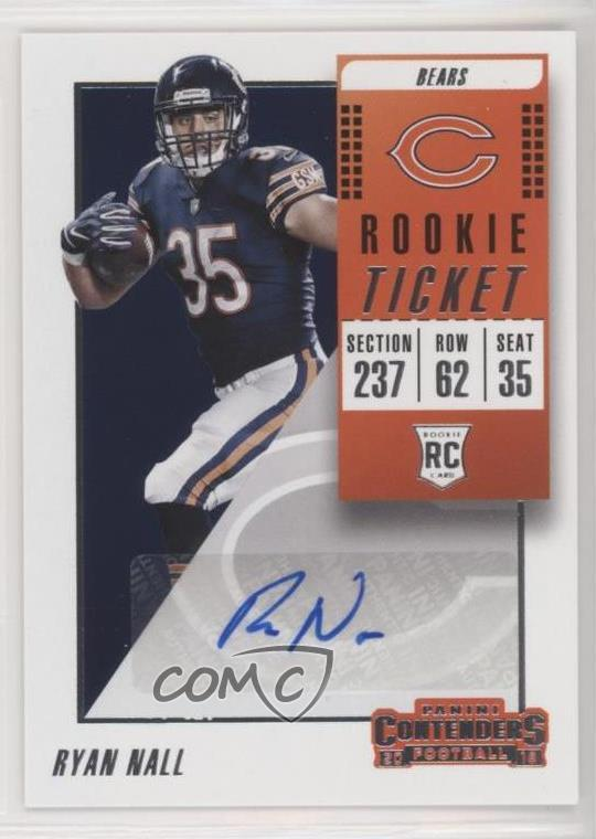 the best attitude 91495 e7cfc Details about 2018 Panini Contenders #295 Ryan Nall Rookie Ticket/Rookie  Ticket Variation Auto