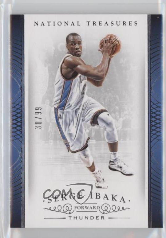 c315223e0 2014-15 Panini National Treasures -  Base   45 Serge Ibaka. Representative  Image - Select Specific Item above to see image of actual item