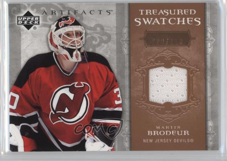 Details About 2006 07 Upper Deck Artifacts Treasured Swatches 250 Ts Mb Martin Brodeur Card