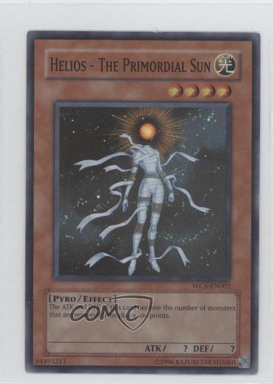 YuGiOh Card NM Helios Duo Megistus WC6-EN003 Super Rare