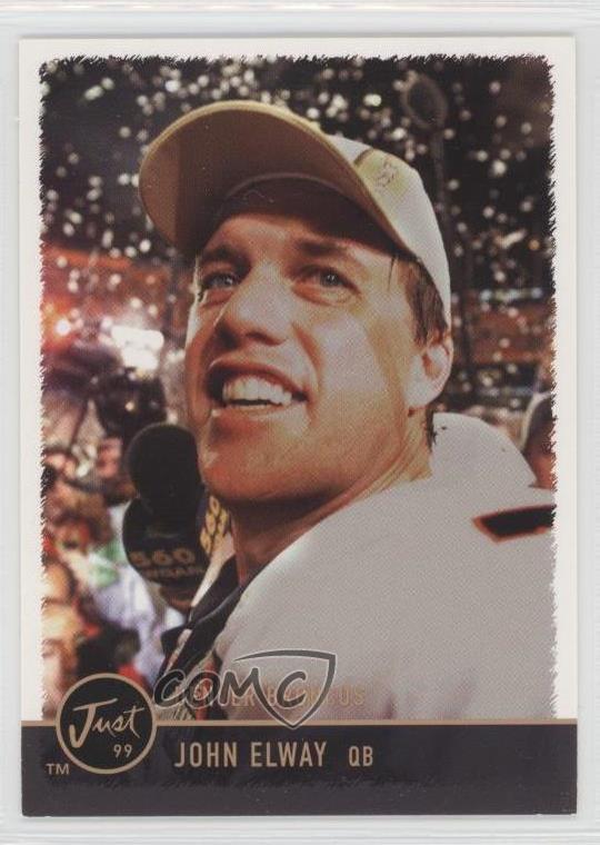 Details About 1999 Just Minors 82 John Elway Denver Broncos Baseball Card
