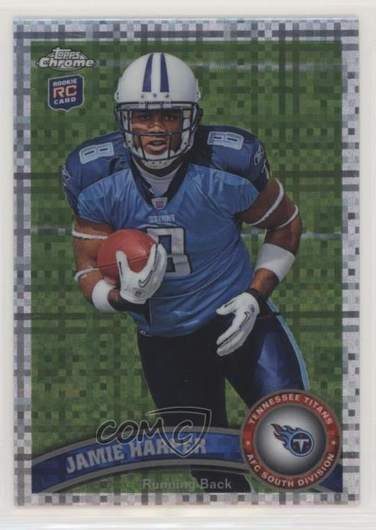 Details About 2011 Topps Chrome X Fractor 181 Jamie Harper Tennessee Titans Rookie Card