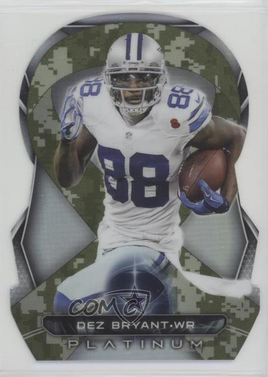 pretty nice ee50f d0c58 Details about 2015 Topps Platinum STS Die-Cut Ribbons #BSDR-DB Dez Bryant  Dallas Cowboys Card