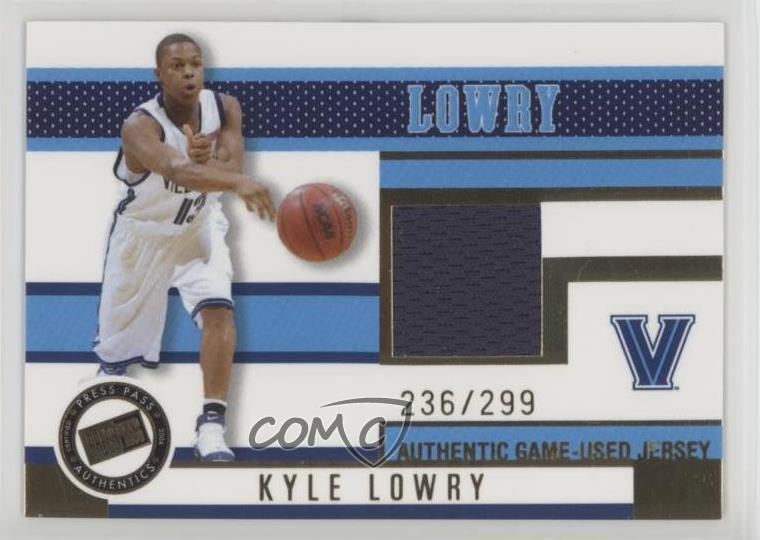 best service 238cc 15ffb Details about 2006-07 Press Pass Jerseys Gold/299 #JC/KL Kyle Lowry  Villanova Wildcats Rookie