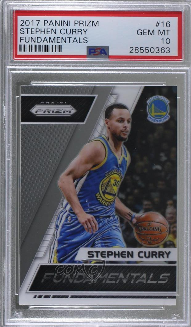 new products 1ad1d 9de6c Details about 2017-18 Panini Prizm Fundamentals #16 Stephen Curry PSA 10  GEM MT Card
