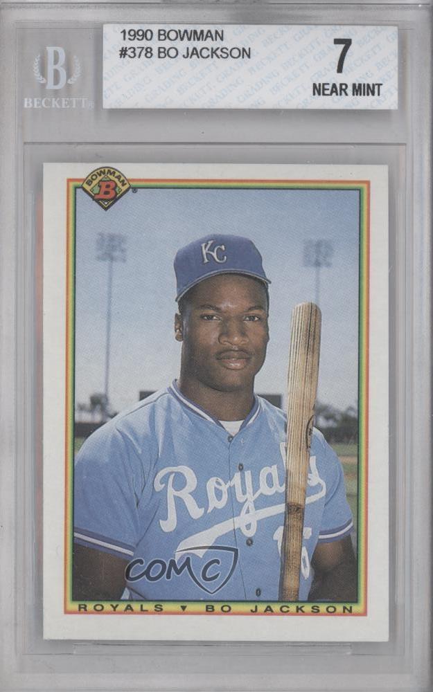 378 Base 1990 Bowman Baseball Card Bo Jackson