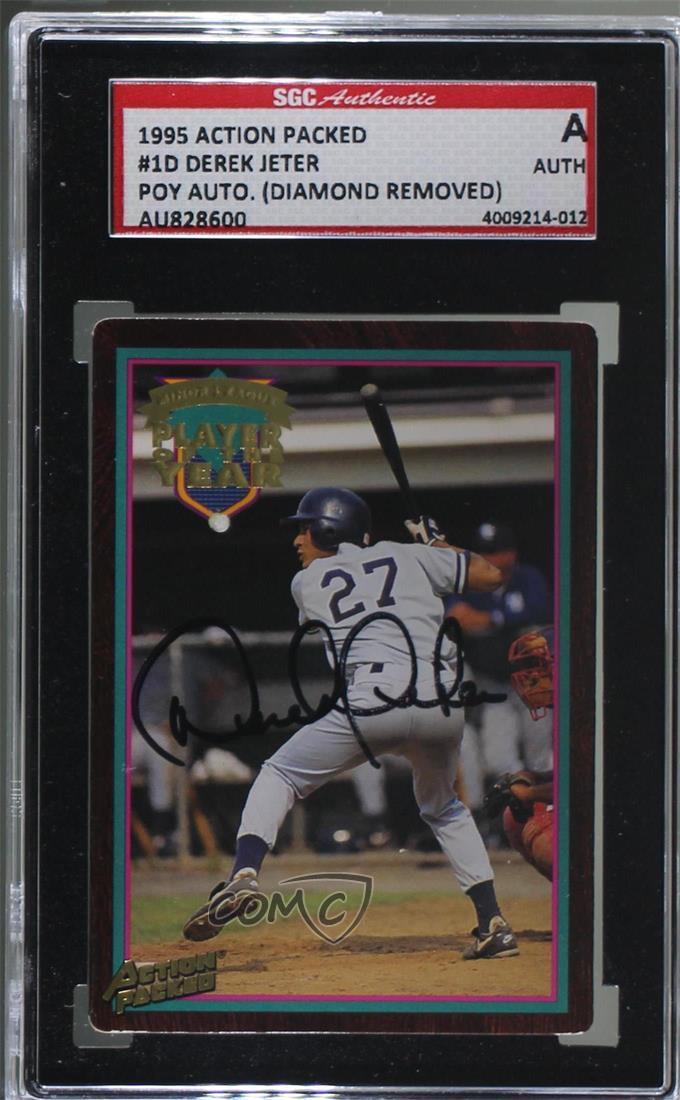 Details About 1995 Action Packed Minor League 1d Derek Jeter Autograph Sgc Authentic Auto