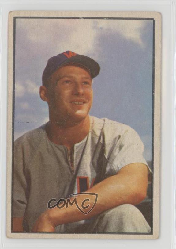 Details About 1953 Bowman Color 24 Jackie Jensen Washington Senators Baseball Card