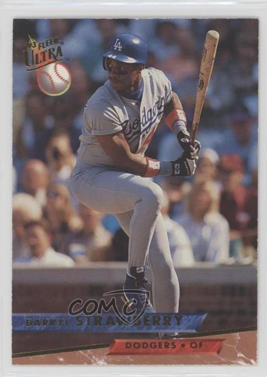 Details About 1993 Fleer Ultra 406 Darryl Strawberry Los Angeles Dodgers Baseball Card