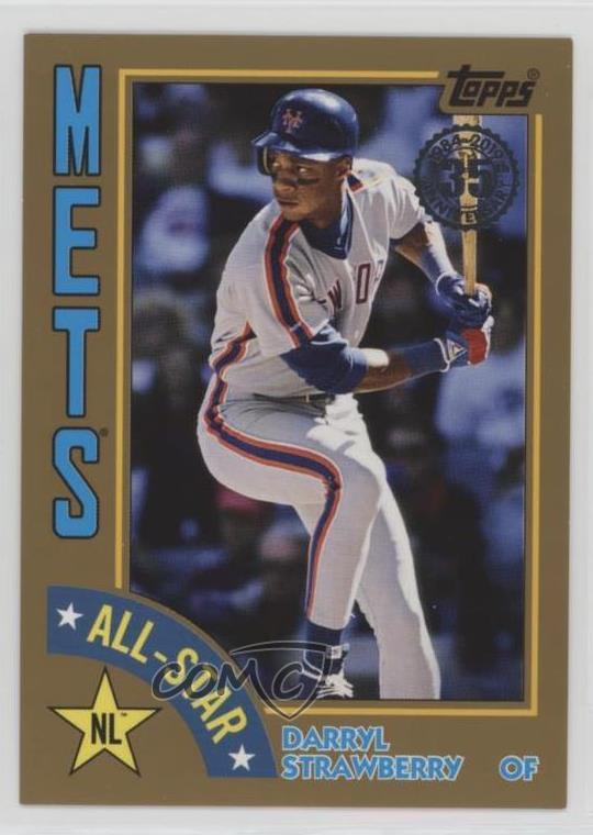 Details About 2019 Topps 1984 Baseball All Stars Gold50 84as Ds Darryl Strawberry Card