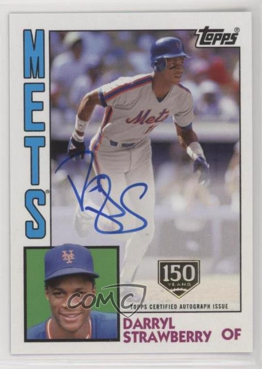 Details About 2019 Topps 1984 Baseball Autographs 150th Anniversary150 Darryl Strawberry Auto