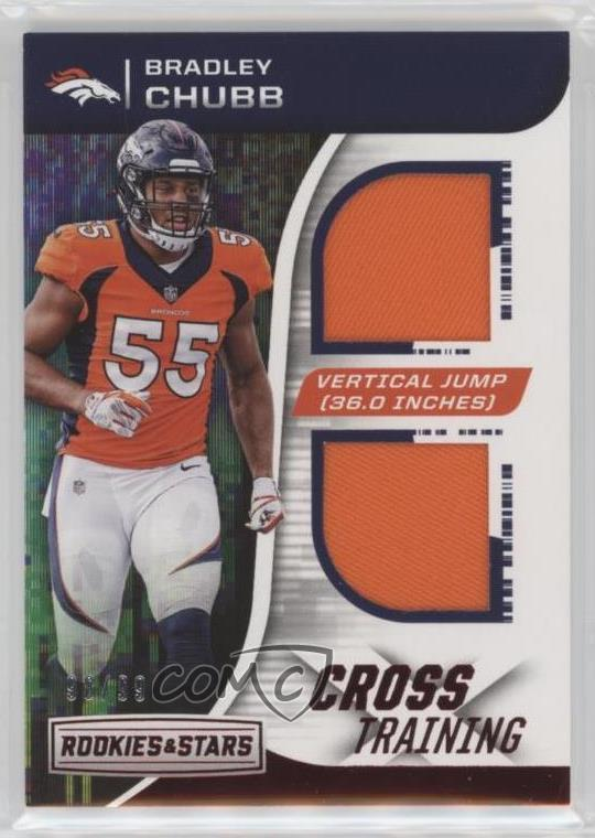 f03673acaf4 2018 Panini Rookies & Stars - Cross Training Relics #CT-4 Bradley Chubb.  Representative Image - Select Specific Item above to see image of actual  item