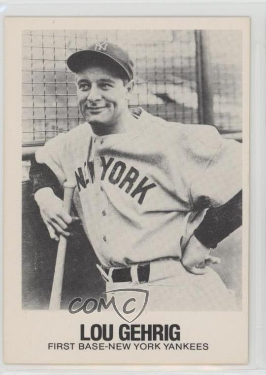 Details About 1977 1977 84 Tcma Renata Galasso 46 Lou Gehrig New York Yankees Baseball Card