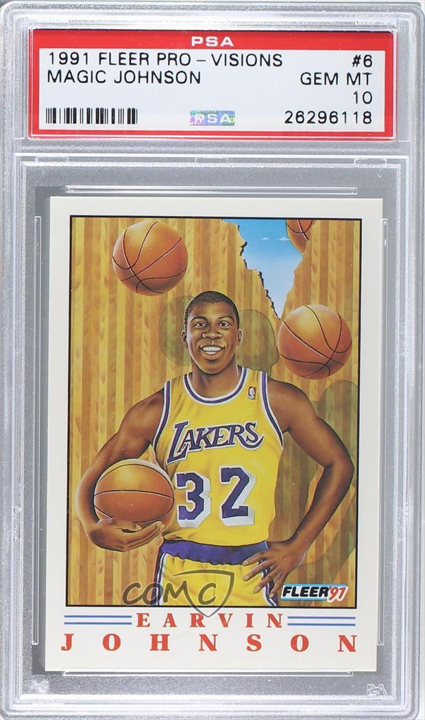 a474231af35d 1991-92 Fleer - Pro Vision  6 Magic Johnson. Representative Image - Select  Specific Item above to see image of actual item