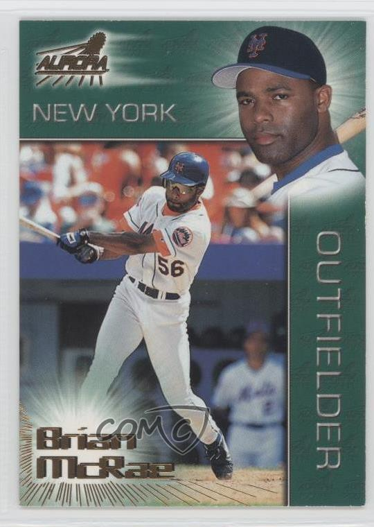 Details About 1998 Pacific Aurora 165 Brian Mcrae New York Mets Baseball Card