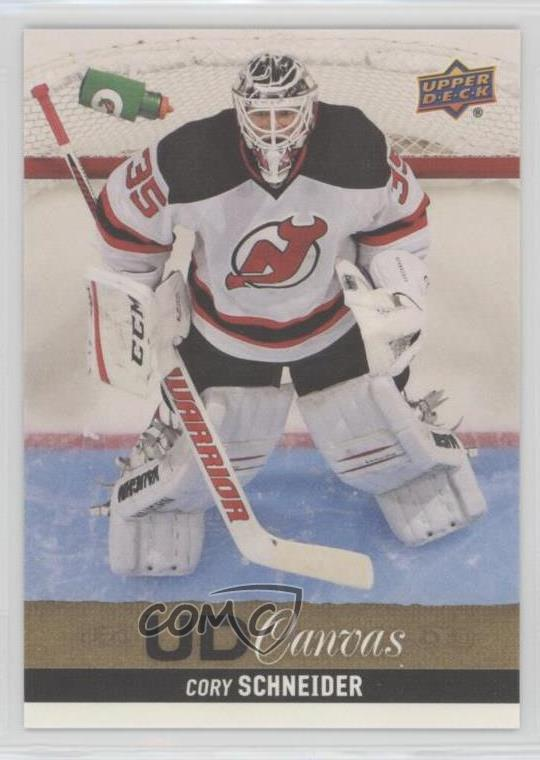 buy online 0e348 91a3b Details about 2013-14 Upper Deck UD Canvas #C134 Cory Schneider New Jersey  Devils Hockey Card