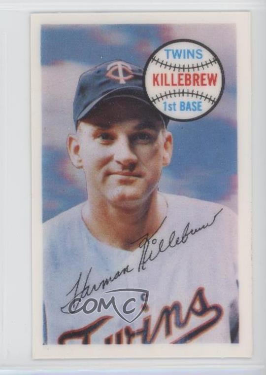 Details About 1970 Kelloggs 3 D Super Stars 61 Harmon Killebrew Minnesota Twins Card