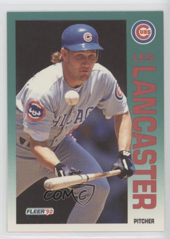 Details About 1992 Fleer 384 Les Lancaster Chicago Cubs Baseball Card