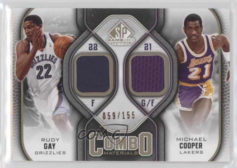 28fc90894 2009-10 SP Game Used Combo Materials Level 1  CM-CG Rudy Gay Michael ...