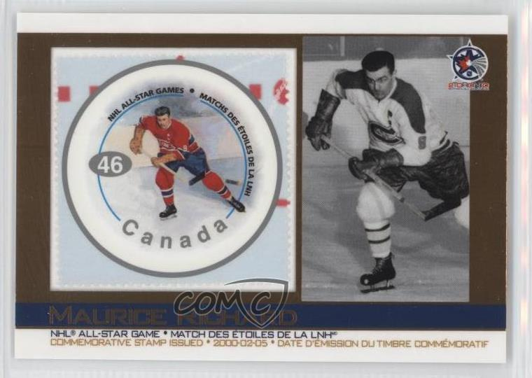 Details about 2003 Pacific Canada Post NHL All-Stars 3 Maurice Richard  Montreal Canadiens Card