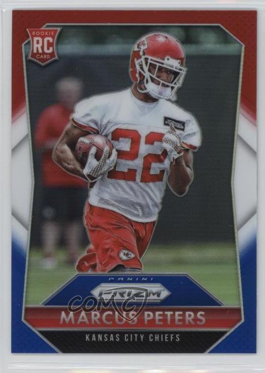 reputable site ce117 b08da Details about 2015 Panini Prizm Red White & Blue Prizms #265 Marcus Peters  Rookies Rookie Card