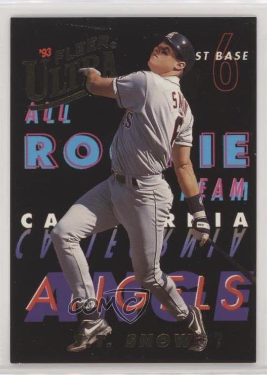 Details About 1993 Fleer Ultra All Rookie Team 9 Jt Snow Los Angeles Angels Baseball Card