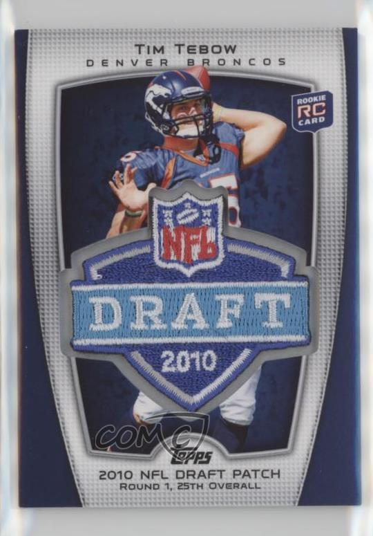 Details About 2010 Topps Target Nfl Draftsuper Bowl Logo Patch Trgt 3 Tim Tebow Rookie Card