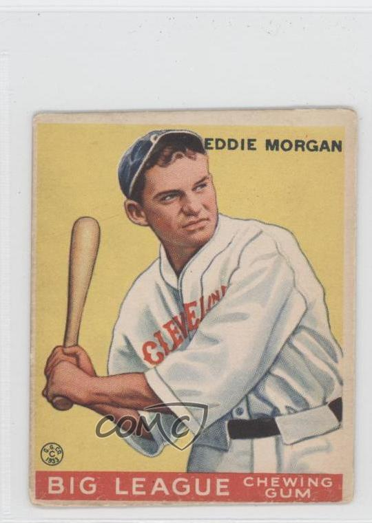 Details About 1933 Goudey Big League Chewing Gum R319 116 Ed Morgan Eddie Rc Rookie Card