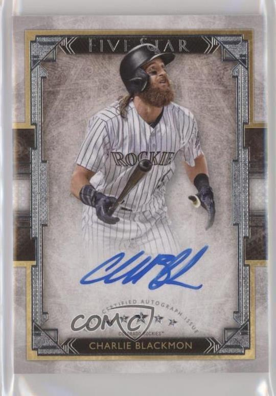 Details About 2018 Topps Five Star Fsa Cb Charlie Blackmon Colorado Rockies Auto Baseball Card
