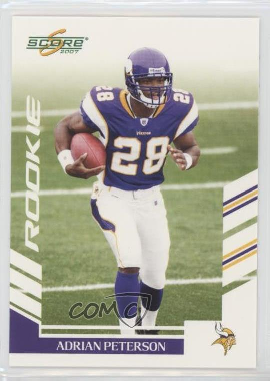 Details About 2007 Score 341 Adrian Peterson Minnesota Vikings RC Rookie Football Card