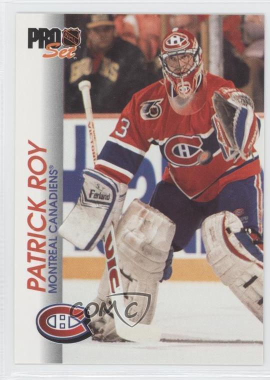 timeless design a4dc6 7de01 Détails : 1992-93 Pro Set #85 Patrick Roy Montreal Canadiens Hockey Card