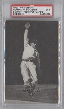 1907-09 Detroit Tigers Postcards - [Base] #HESC - Herman W. Schaefer [PSA5]
