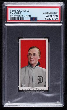 1909-11 T206 - [Base] - Old Mill Base Ball Subjects Back #TYCO - Ty Cobb [PSAAuthenticAltered]