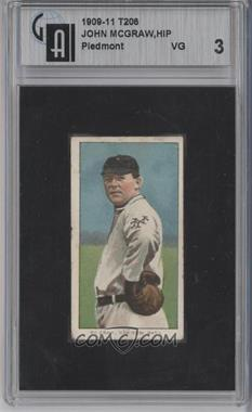 1909-11 T206 - [Base] - Piedmont 350-460 Factory No. 25 Back #JOMC.2 - John McGraw (Hands on Hips) [GAI 3]