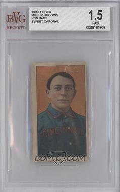 1909-11 T206 - [Base] - Sweet Caporal 350 Factory No. 30 Back #MIHU.1 - Miller Huggins (Portrait) [BVG1.5FAIR]