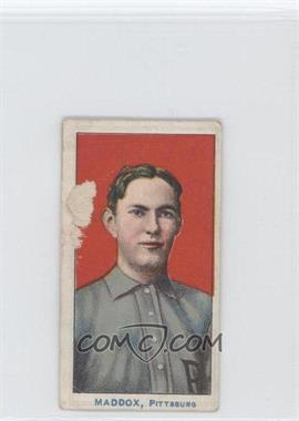 1910 American Caramel - E90-2 - Blue Print Pittsburgh Pirates #N/A - Nick Maddox [Poor]