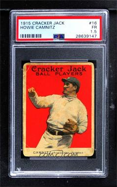 1915 Cracker Jack - [Base] #16 - Howard Camnitz [PSA 1.5 FR]