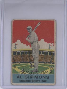 1933 DeLong - R333 #2 - Al Simmons [GoodtoVG‑EX]