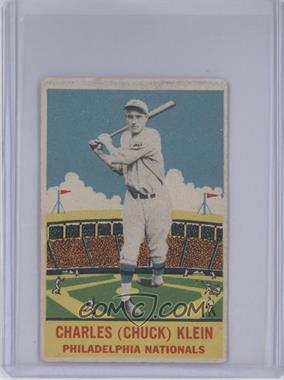 1933 DeLong - R333 #22 - Chuck Klein [GoodtoVG‑EX]