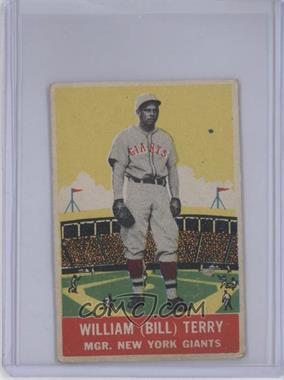 1933 DeLong - R333 #4 - Bill Terry [GoodtoVG‑EX]