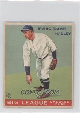 1933 Goudey Big League Chewing Gum - R319 #140 - Bump Hadley