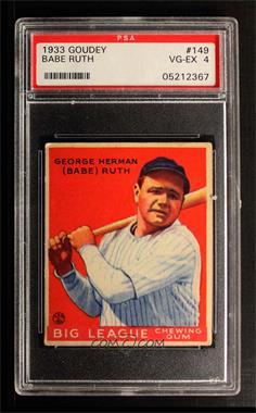 1933 Goudey Big League Chewing Gum - R319 #149 - Babe Ruth [PSA4VG‑EX]