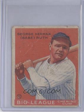 1933 Goudey Big League Chewing Gum - R319 #149 - Babe Ruth [Poor to Fair]