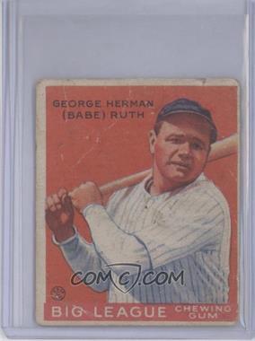 1933 Goudey Big League Chewing Gum - R319 #149 - Babe Ruth [PoortoFair]