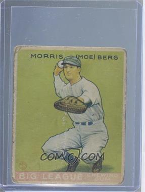 1933 Goudey Big League Chewing Gum R319 158 Moe Berg Poor