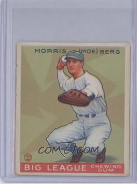 1933 Goudey Big League Chewing Gum - R319 #158 - Moe Berg [Good to VG‑EX]