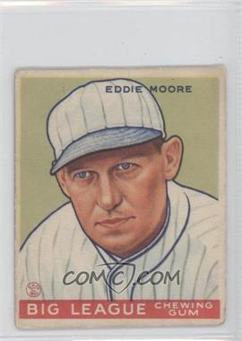 1933 Goudey Big League Chewing Gum - R319 #180 - Eddie Moore [Good to VG‑EX]